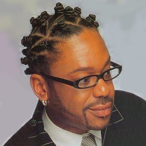 Bantu Knots braids men hairstyle