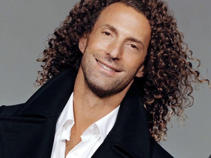 frizzy long hair man