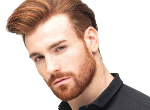 A redhead fellow with goatee facial hairstyle