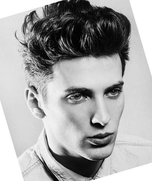 Popular pompadur hairstyle