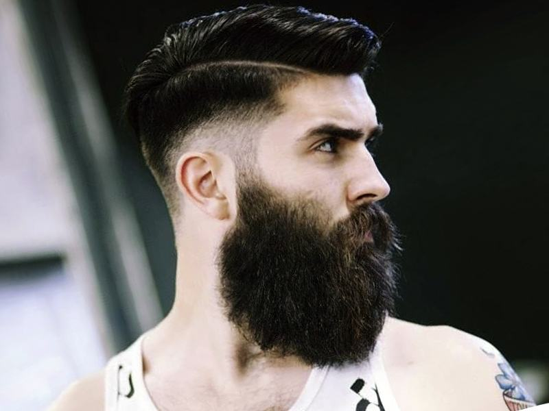 A strong man with an overwhelming beard