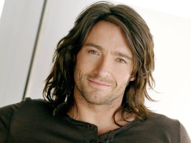 wavy long hair man