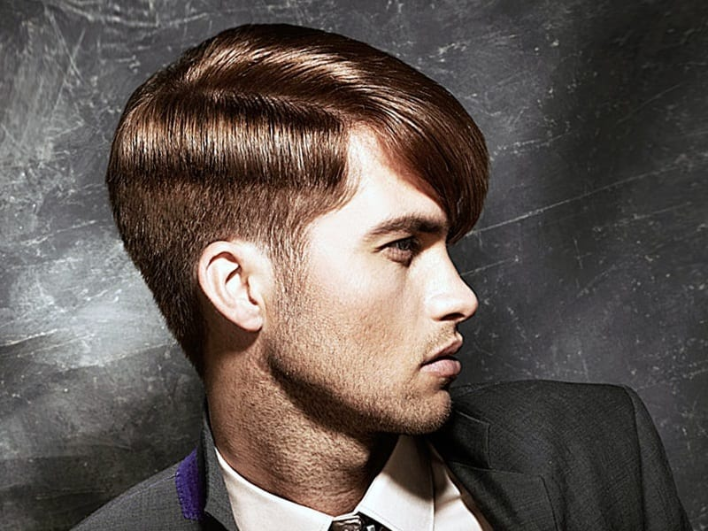 A guy with a fashion hairstyle