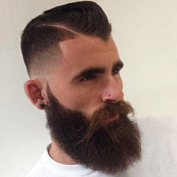 A line-up hairstyle for men