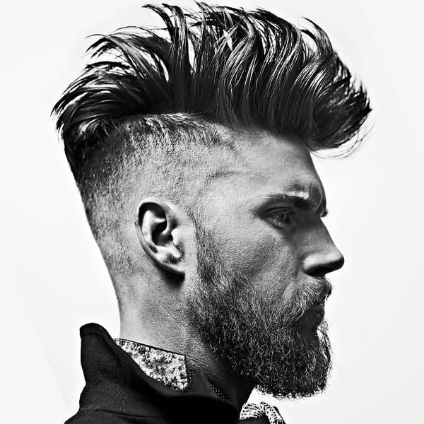A mohawk men's hairstyle