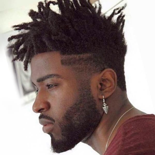 Afro Undercut Hairstyle For Men