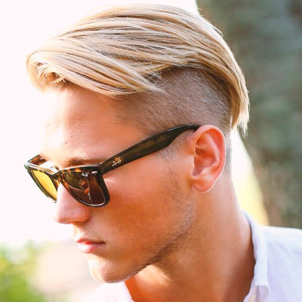 Side Undercut Hairstyle With Fade