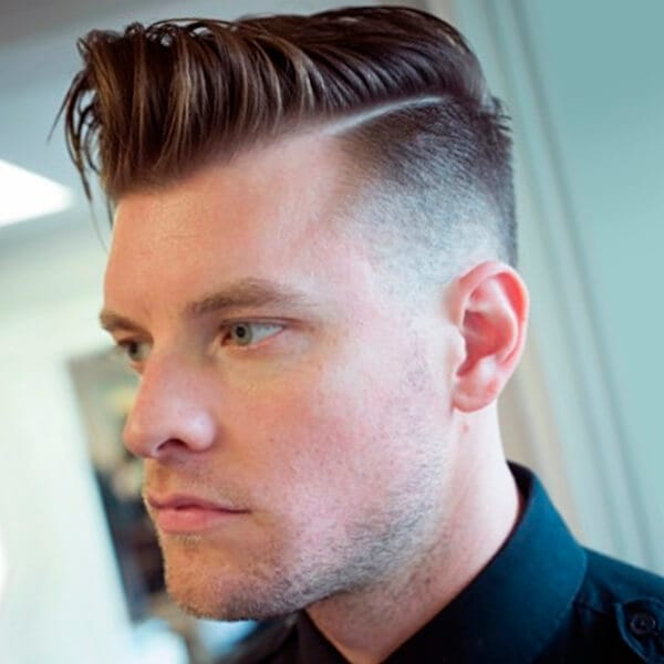 Side Undercut Hairstyle With Horizontal Lines