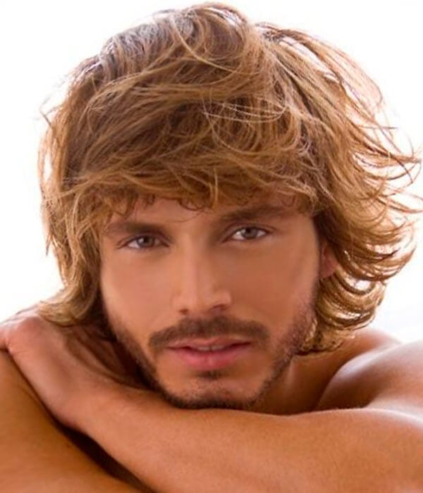 Beachy haircut for males