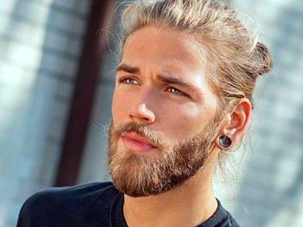 A blonde man with a beard