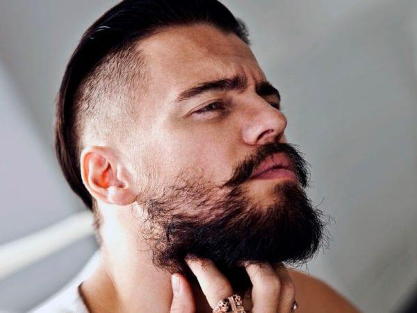 An undercut man with a beard