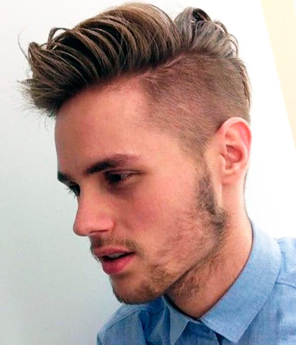Shaved sides hipster haircut