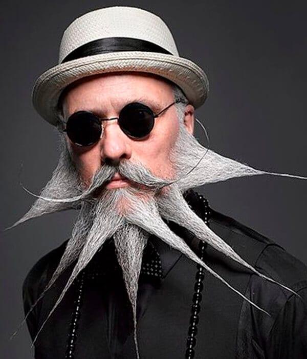 Spiky long beard style
