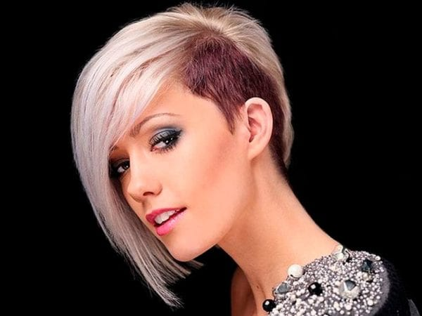 a beautiful woman with stunning short hairstyle