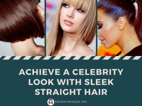 Achieve a celebrity look with sleek straight hair