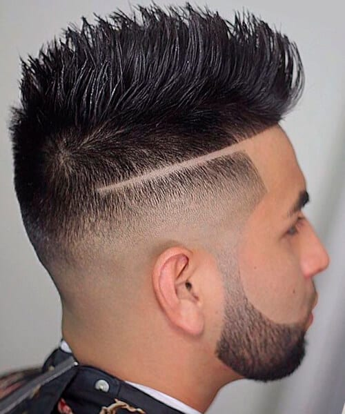 Bald fade haircut for men