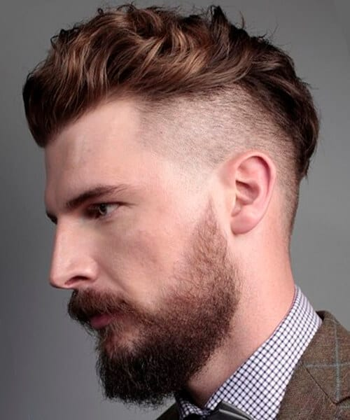 Curly taper fade haircut for men