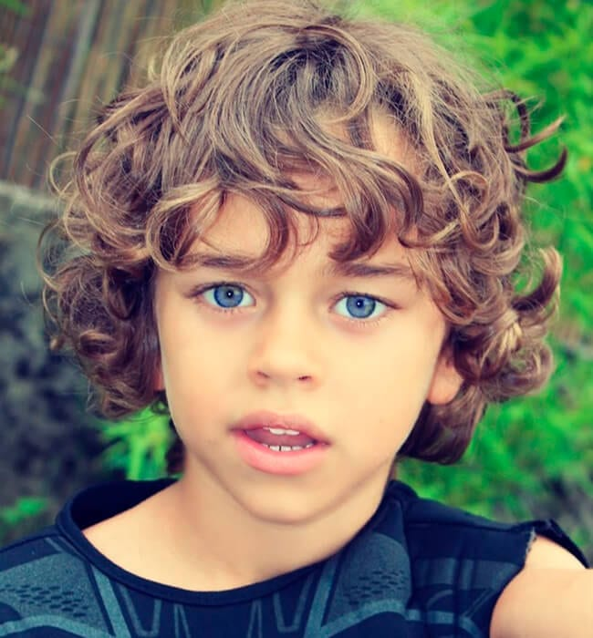 Haircut for boys with curls