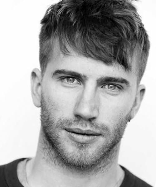 Messy fade haircut for men