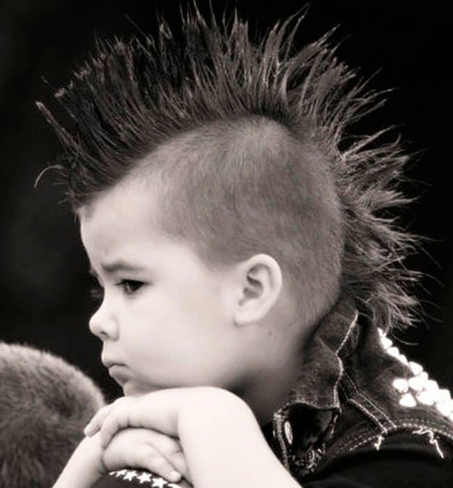 punk haircut for little boys