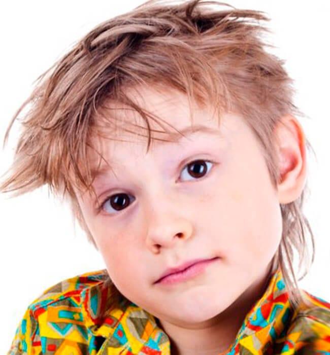 Rocker haircut for boys