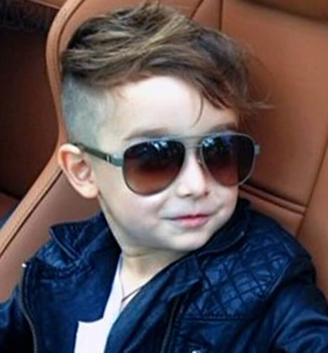 Toddler boy haircut with very short sides