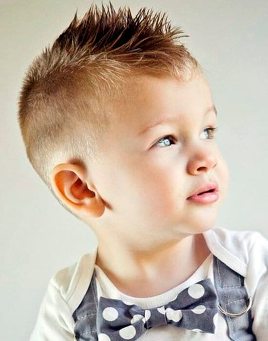 Mini Mohawk cool haircut for boys