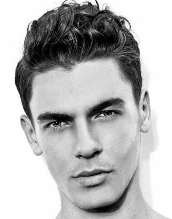 Straight and wavy short shag cool haircut for guys