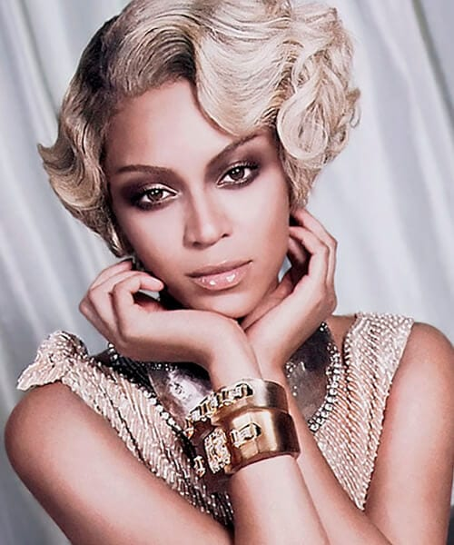 Beyonce celebrity short hairstyle
