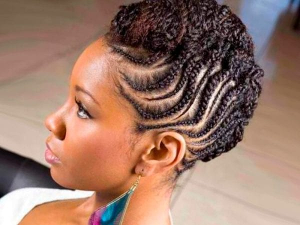 Braided Updo Styles For Natural Hair: Hairstyles With Braiding Hair