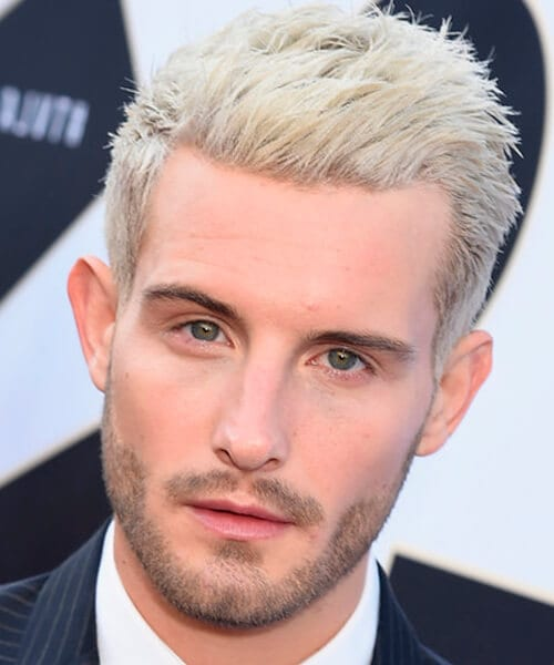 Casual blonde short hairstyle for men
