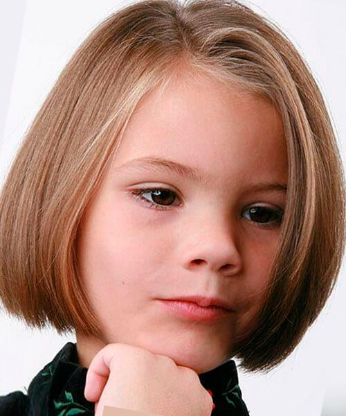 Circle short hairstyle for little girls