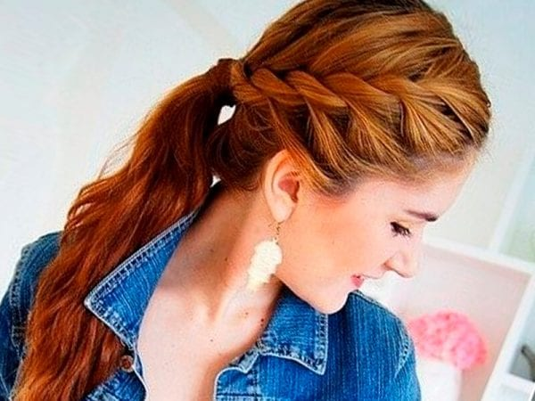 An adorable girl with braided hairstyle
