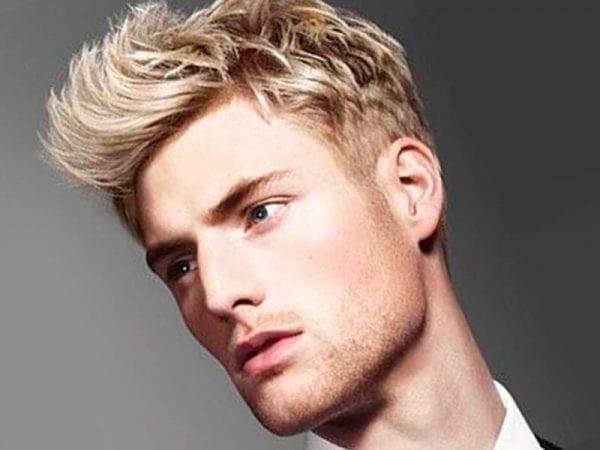 Short blonde hairstyle