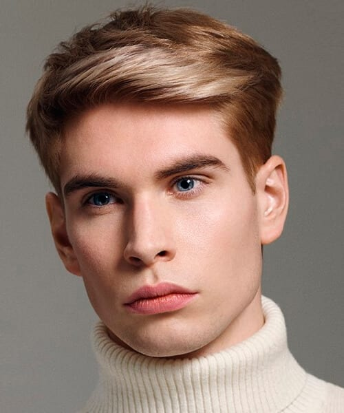 Traditional Short Blonde Hairstyle For Men