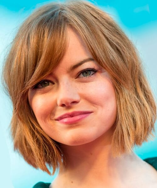 Bob hairstyle with bangs for fine hair