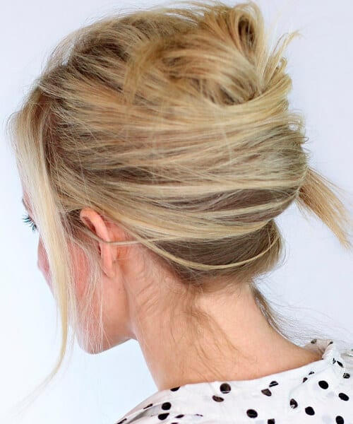 Messy French twist semi-formal hairstyle