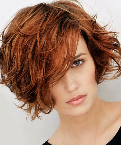 Messy bob hairstyle for thick hair