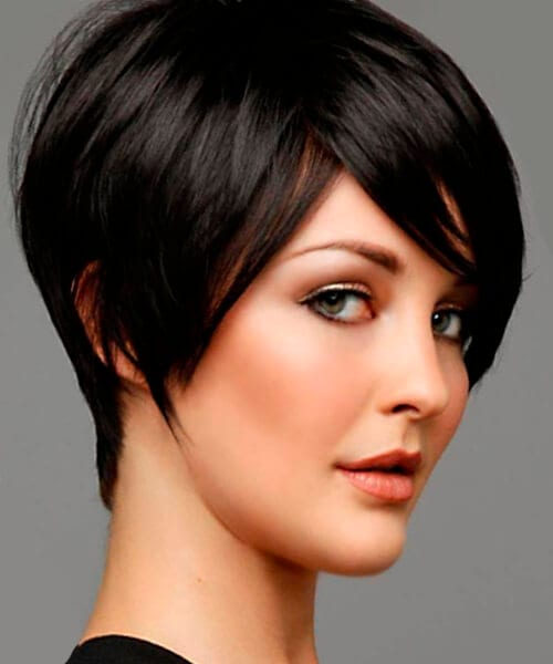 Short hairstyles for thick hair and oval face