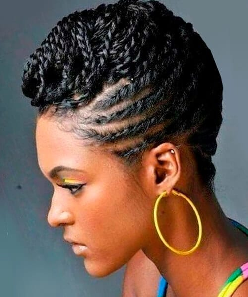 Natural hairstyles for african american women and girls chic braided natural updo hairstyle pmusecretfo Gallery
