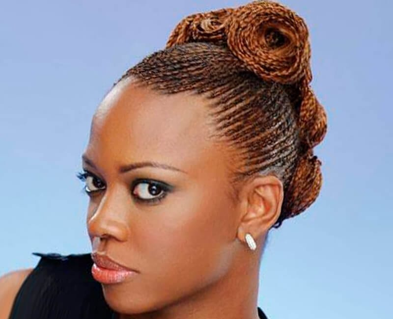 Braided Updo Styles For Natural Hair: Natural Hairstyles For African American Women And Girls