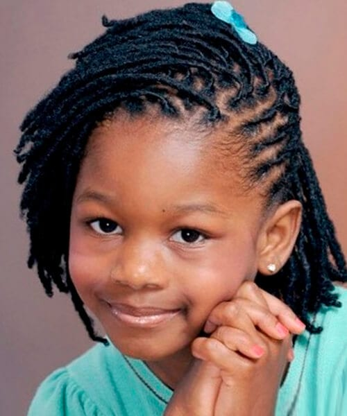 Natural Hairstyles options for short natural hairstyles Twisty Natural Hairstyle For Kids