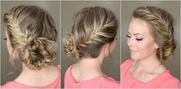 Braid into a bun hairstyle for summer