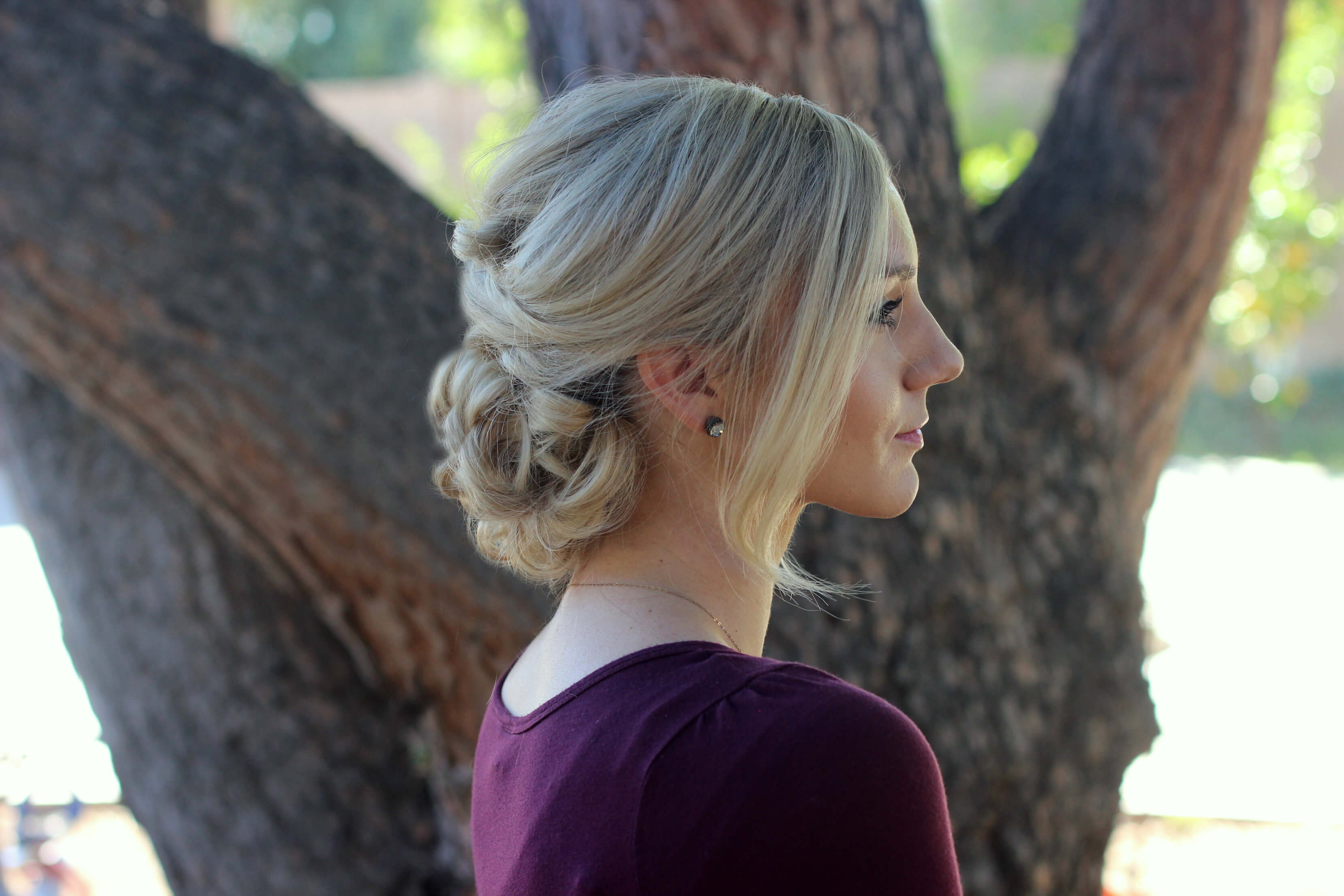 Topsy tail hairstyle for humidity