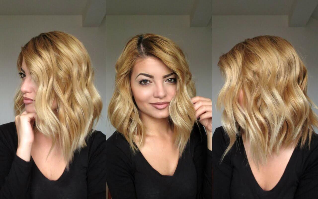 Прически на средние волосы легкая волна