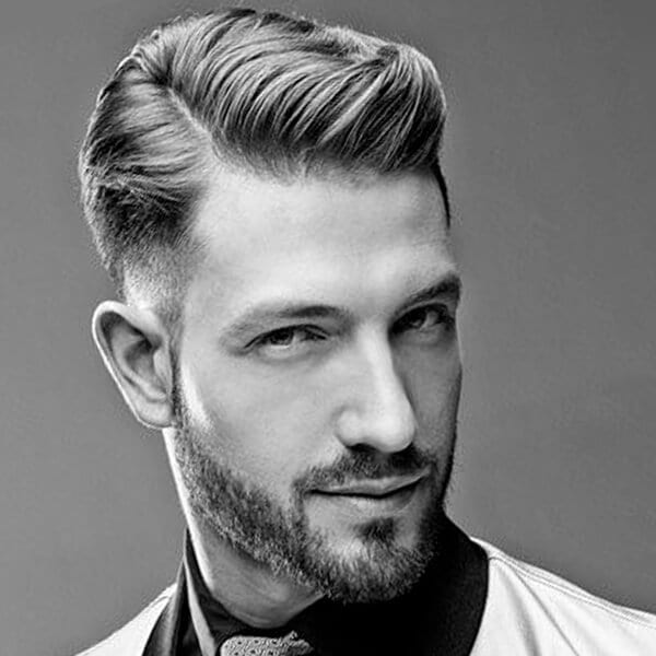 Architectural men's undercut hairstyle