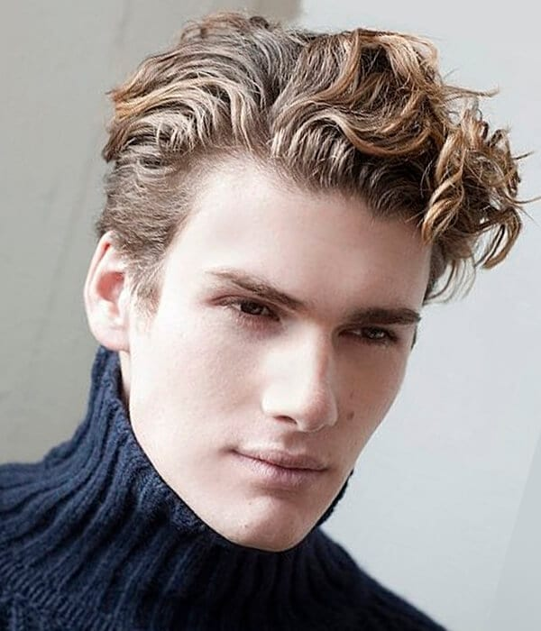 Curl and wave men's haircut
