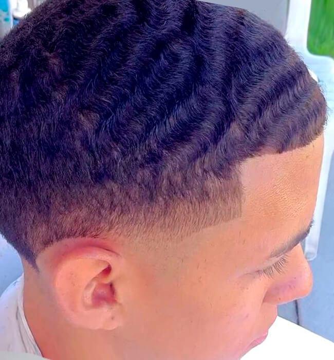 Deep wave black boys' haircut