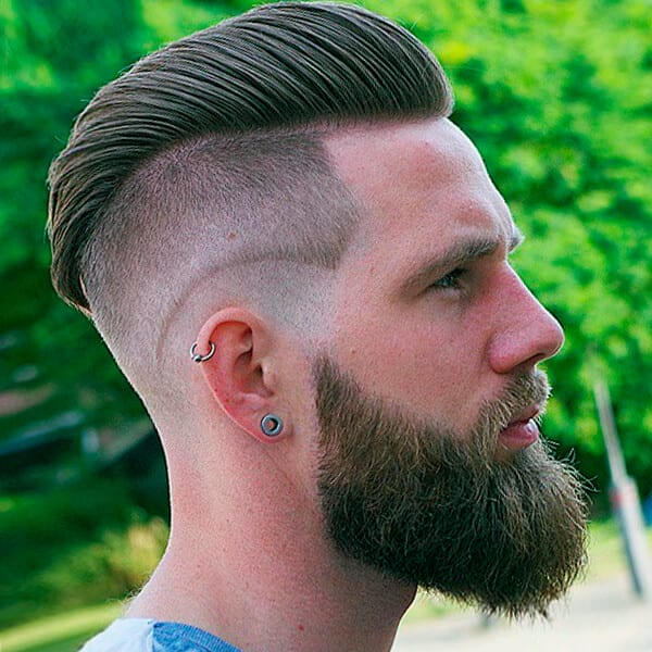 Double layer men's undercut hairstyle