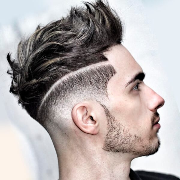 Edgy men's undercut hairstyle with square angles